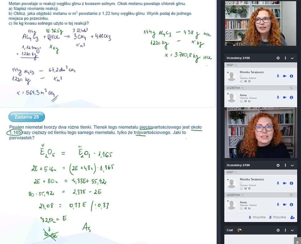 Kurs chemii online - lekcje indywidualne